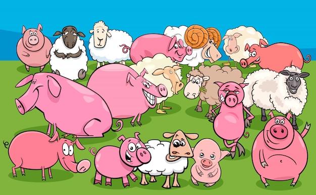 Grupa znaków dla zwierząt hodowlanych trzody chlewnej i owiec