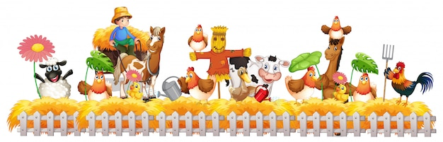 Grupa zwierzęta domowe w gospodarstwie rolnym odizolowywającym