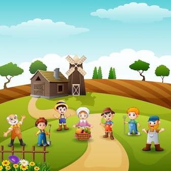 Grupuj farmerów i ogrodników w gospodarstwie