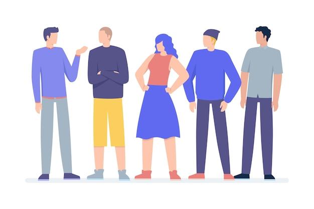 Grupy ludzi ilustraci paczka