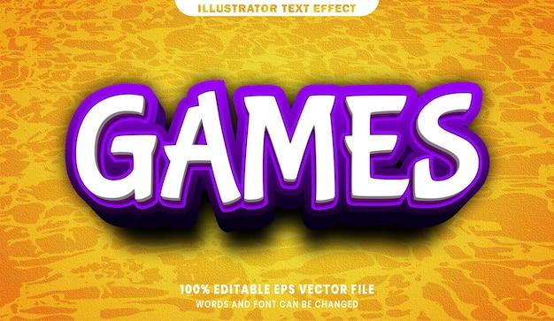 Gry 3d efekt edytowalnego stylu tekstu