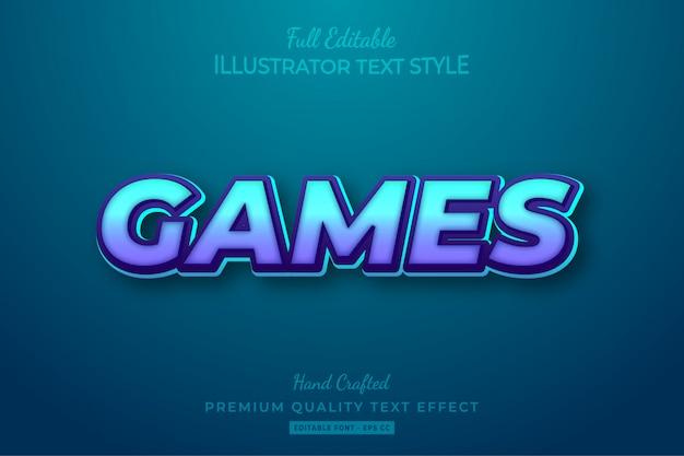 Gry edytowalny efekt tekstowy 3d