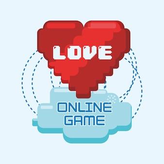 Gry online miłość serce pikseli połączyć