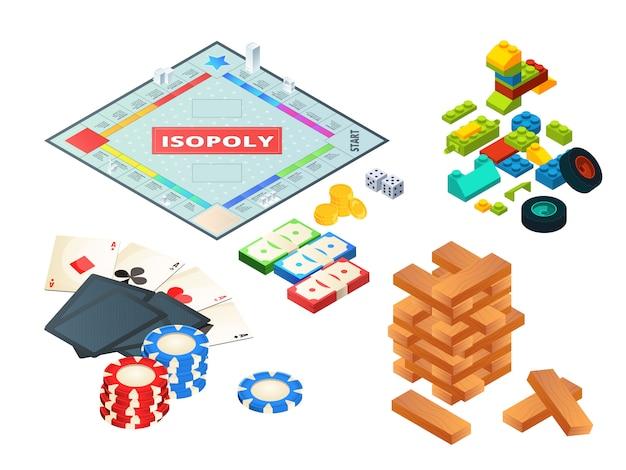 Gry planszowe i narzędzia. różne narzędzia do gier planszowych. kości, pionki i inne