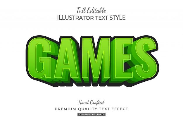 Gry rysunkowe styl tekstu efekt premium