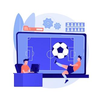Gry sportowe streszczenie ilustracja koncepcja