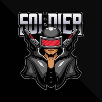 Gry z logo esport żołnierza