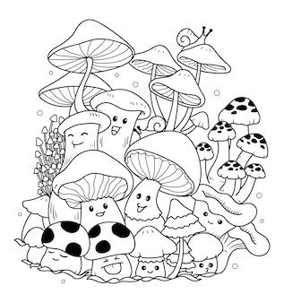 Grzyb doodle sztuki