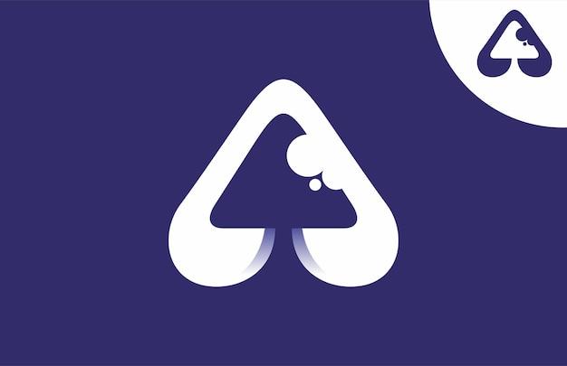 Grzyb początkowy litera a logo