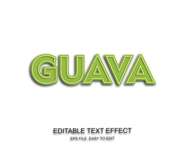Guava efekt edytowalnej czcionki