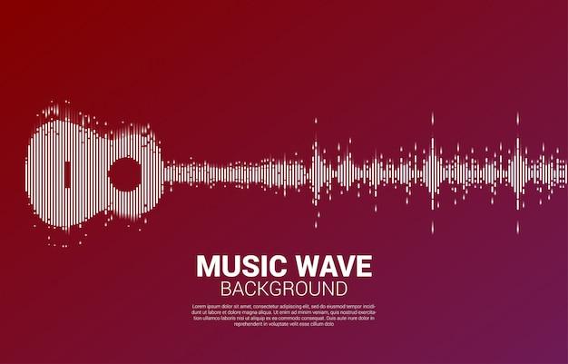 Guitar sound wave music equalizer na koncert imprezy i festiwal muzyczny