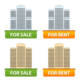 Guziki sprzedaż i wynajem mieszkań miejskich w formacie eps 10