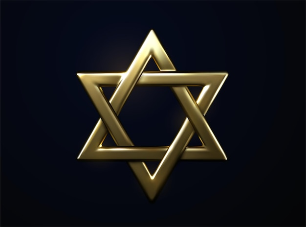Gwiazda dawida złoty znak