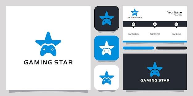 Gwiazda gry logo ikona symbol szablon logo i wizytówka