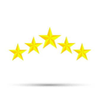 Gwiazda ikona wektor wzór pięć elementów na białym tle