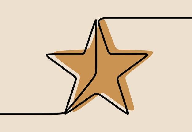 Gwiazda jednoliniowa ciągła grafika liniowa