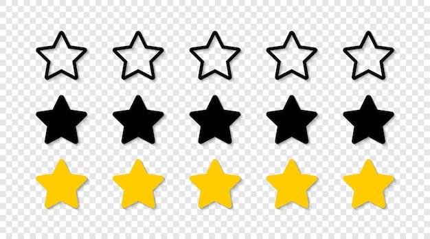 Gwiazda na białym tle. gwiazdki oceny.