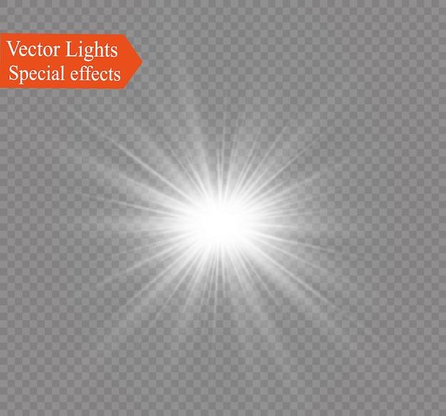 Gwiazda na przezroczystym tle, efekt świetlny