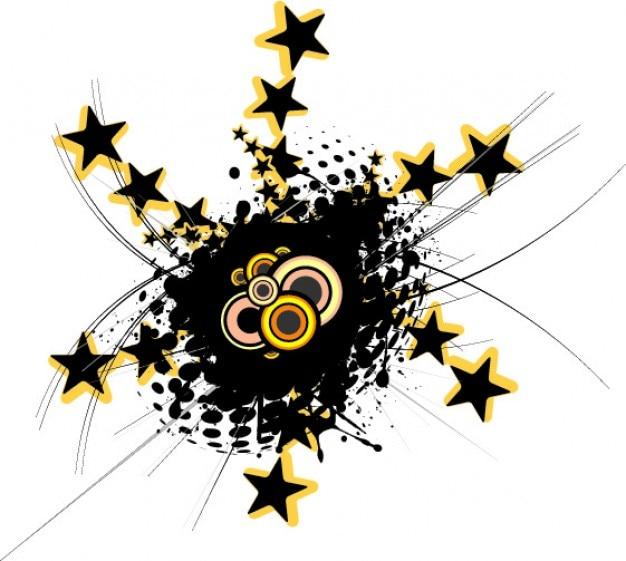 Gwiazda promienie tunel i centrum grunge