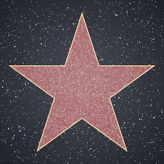 Gwiazda pusty szablon na granitowym placu
