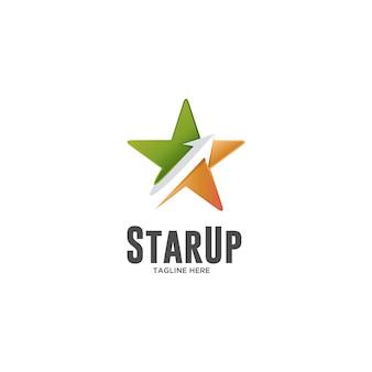 Gwiazda z logo gwiazdy i strzałki