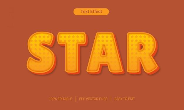 Gwiazdka z edytowalnym efektem stylu tekstu