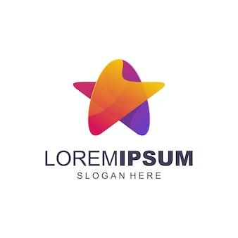 Gwiazdkowe kolorowe logo