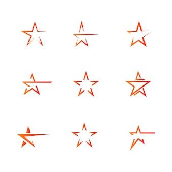 Gwiazdowej loga szablonu wektorowej ikony ilustracyjny projekt