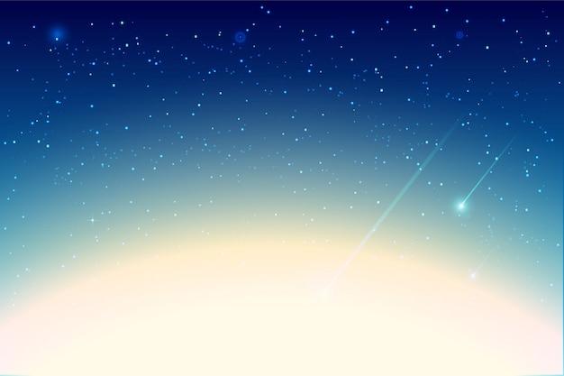 Gwiazdowy błękitny nocne niebo z gwiazdowym tłem