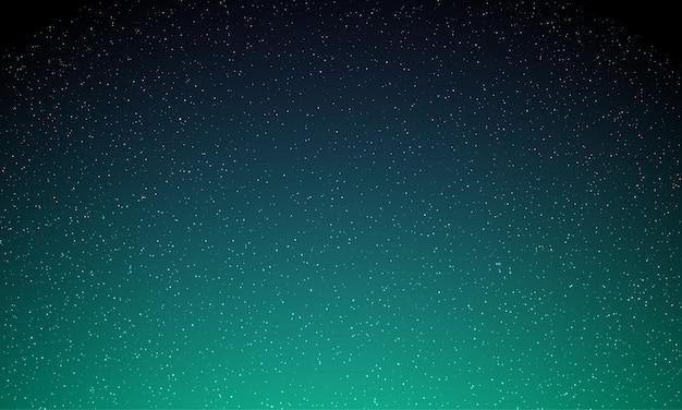Gwiazdy na nocnym niebie, gwiaździste światło, galaktyki tła. zorza polarna świeci, neonowa zorza polarna świeci w tle