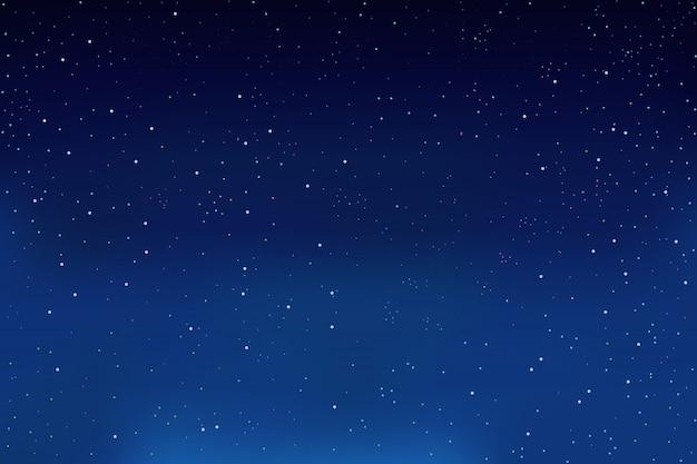 Gwiazdy na nocnym niebie. niebieskie tło.