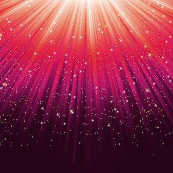 Gwiazdy na ścieżce fioletowego światła.