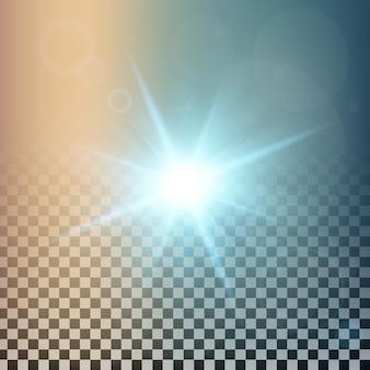 Gwiazdy świecące z efektem świetlnym wybuchają iskierkami.