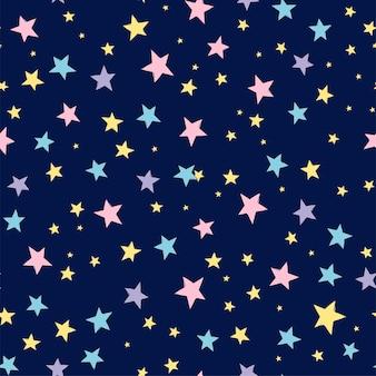 Gwiazdy tło wektor wzór błyszczy ilustracja dziecinna trend print