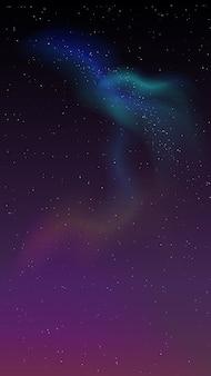 Gwiaździste niebo i zorza polarna