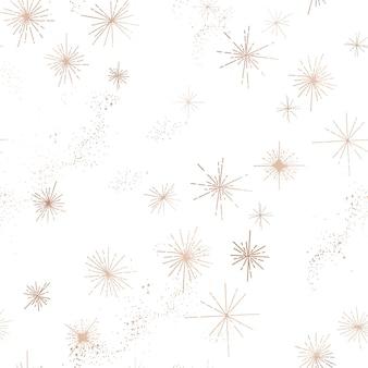 Gwiaździste niebo modny wzór, vintage niebiańskie ręcznie rysowane szablon tła galaktyki, przestrzeni, gwiazd do projektowania, tekstury, tekstyliów, dekoracji. ilustracja w wektorze