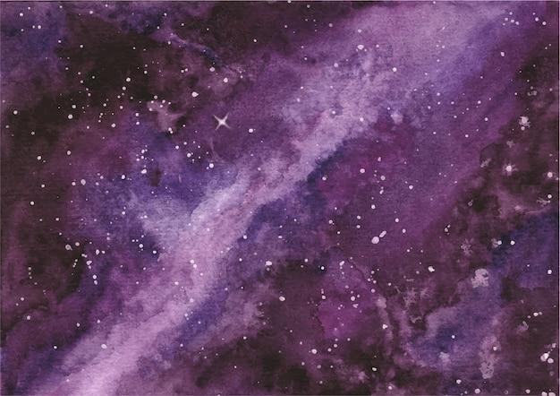 Gwiaździste nocne niebo z akwarelami