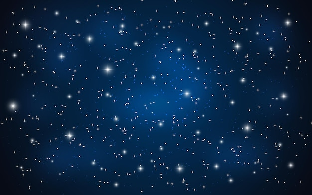 Gwiezdne niebo ilustracja wektorowa na tle eps10