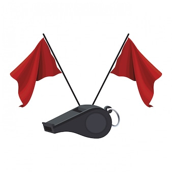 Gwizdek sędziego i flagi
