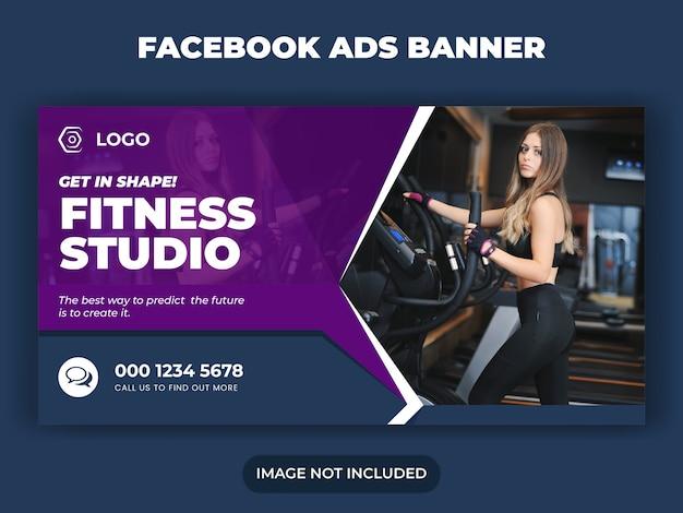 Gym fitness i trening banner postu w mediach społecznościowych
