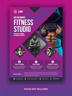 Gym fitness post banner w mediach społecznościowych
