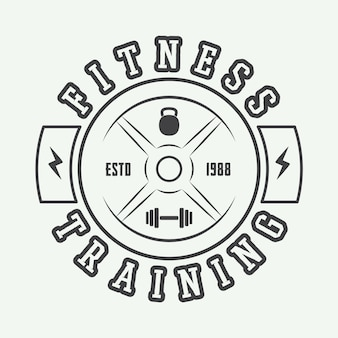 Gym logo w stylu vintage