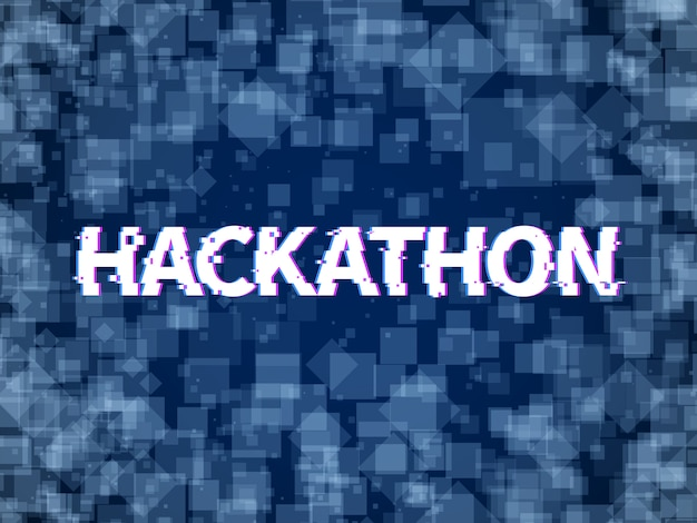 Hackathon. kod programu, maraton oprogramowania. hack dzień, hackfest lub codefest zdarzenie hackathon tło wektor