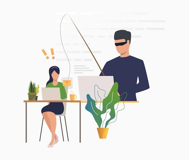 Hackowanie cyberprzestępców na serwerze e-mail
