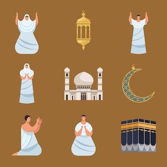 Hadżdż mabrur dziewięć ikon