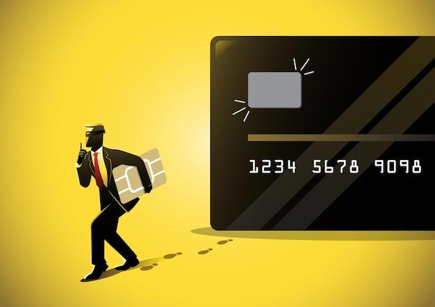 Haker lub przestępca wykorzystują phishing w celu kradzieży pieniędzy online