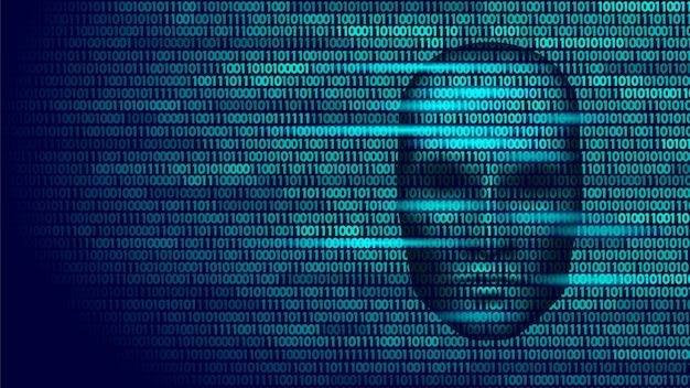 Haker sztucznej inteligencji robot niebezpieczeństwo ciemna twarz, cyborg