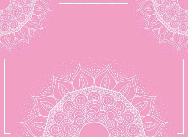 Halfs mandale z różowym kolorem tła
