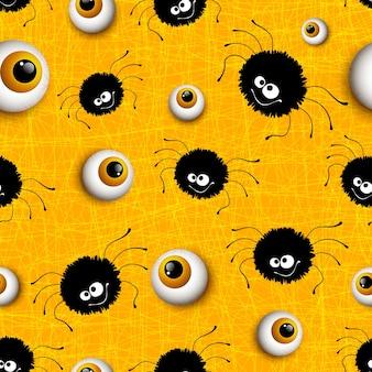 Halloween bezszwowe tło wzór. ilustracja wektorowa eps 10