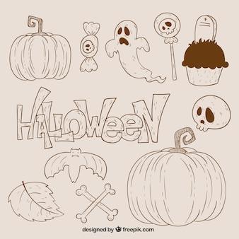 Halloween cznie doodle